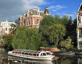 There are many stately and luxurious homes along  Amsterdam's beautiful canals.
