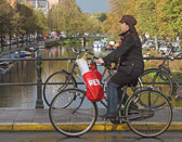 Cycling is the most common way for people to get around in Amsterdam.