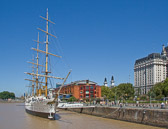 The old port in Buenos Aires is now an upscale neighborhood with restaurants, shops and tourist attractions.