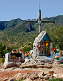 Memorials to those lost at the site of auto accidents exist where ever we have traveled.