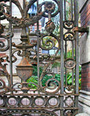 Wrought iron gates are one of many security measures that are used in Argentina.