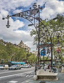 A major avenue in Barcelona important for shopping, architecture and business area.