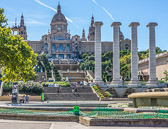 The home of the National Museum of Art  which sits at the foot of Montjuïc.
