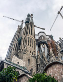 Construction of Antoni Gaudi's vision has been goingon for over 120 yrs.