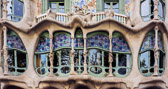 A detail of one of Gaud's most famous buildings on Passeig de Gràcia.