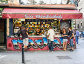 Many bars are right on the street and offer good snacks as well.