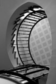A typical circular staircase found in many Paris apartment buildings.