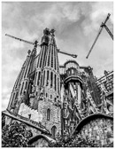 Gaudi's unfinished masterpiece in Barcelona is still under construction.