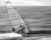 Wind surfing is one way to indulge an addiction to speed.