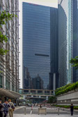 One of the many modern buildings in Hong Kong's financial center.