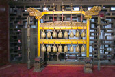 Bbronze temple bells  produce harmonious clatter known as Shao music.