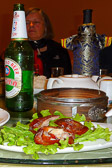 It is the traditional and delicious Beijing Duck when you are in this city.