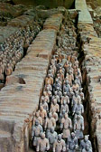 An army of about 8,000  that were buried at Emperor Qinshihuang's tomb.