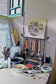 A visit to the hutong studio of an artist and calligrapher.