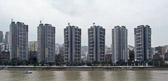 We also see vast urbanization with many high rises along the Yangtze.