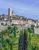 Saint Paul de Vence is just one of many perched villages in France.