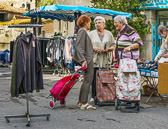Village markets are where people can meet and socialize with neighbors.