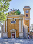It sits high atop Eze  village and is built on the foundation of a 12th century church.