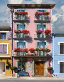 Monsieur Pierre's pink hotel in the old village of Leucate.