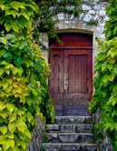 Entrance to a home in Leucate, a small town in southwestern France.