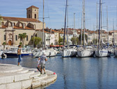 You'll find many fishermen as well as many boats at the port of La Ciotat.