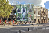 The ancient Roman amphitheater dates back to the 1st century AD,