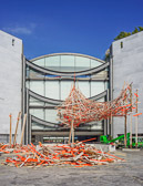 A new construction in front of the Museum of Modern Art in Nice.