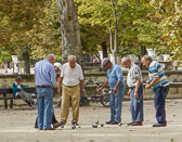 All over France you'll find men meeting in the parks for a game of boules.