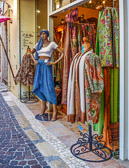 One of many very colorful shops to be found in Antibes.