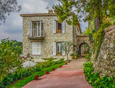 A beautiful home in La Turbie with a view to Eze and to the sea below.