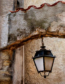 A typical Provencal street lamp in the village of Fayence.