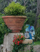 Saw this interesting couple in a garden in Vence in 2000.