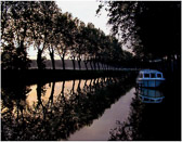 Waking up to the rising sun on the Canal du Midi.