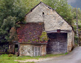 A well weathered barn n Port Lesney, a small village in the Franche-Comté.
