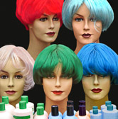 Colorful hair products on display in Amsterdam.