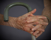 My father's hands at the age of ninety-six.