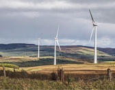 The wind turbines are a sight that is seen more and more all over Europe.