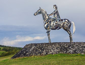 We see this road side statue on our way into Londonderry.