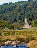 The 6th century church is the only surviving roofed structure at the monastic site of Glendalough.