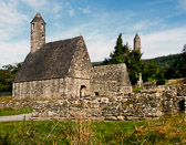 Another name and another view of the church at the monastary in Glendalough.
