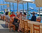 Many diners arrive by boat to the colorful town of Portofino to enjoy lunch portside.