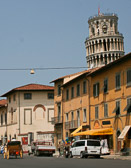 Besides the tower, Pisa is full of souvenir shops where the most displayed items are Pinocchio puppets.
