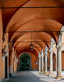 You'll walk under many arches as you explore the historic architecture of Italy.