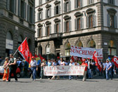 Strikers hoping to send a message to their leaders are an everyday sight in the larger cities of Italy.