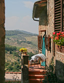 The view from the other side of Fiosole looks out over the beautiful Tuscan countryside.
