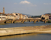A favorite spot for sunbathers is along the Arno River in Florence.