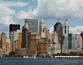 Downtown seen from the Jersey side, minus the World Trade Center.