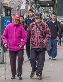 Two old friends out for a stroll  in Chinatown.