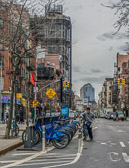 Rental bikes have become a popular way to get around the city.