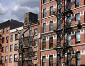 Fire escapes and  architectural details create interesting patterns in Tribeca.